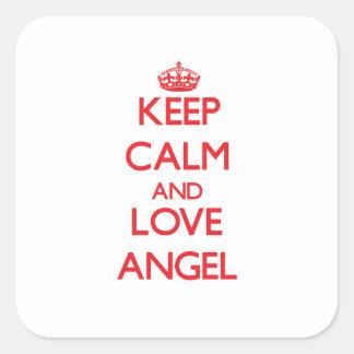 Keep Calm and Love Angel Sticker