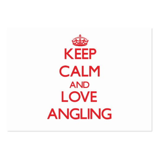 Keep calm and love Angling Business Card Templates