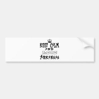 Keep calm and love Arkansas Bumper Sticker