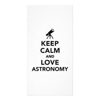 Keep calm and love Astronomy Photo Card Template