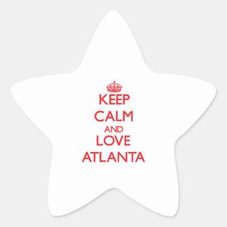 Keep Calm and Love Atlanta Stickers