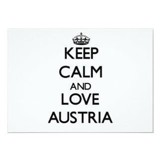 Keep Calm and Love Austria Custom Announcement