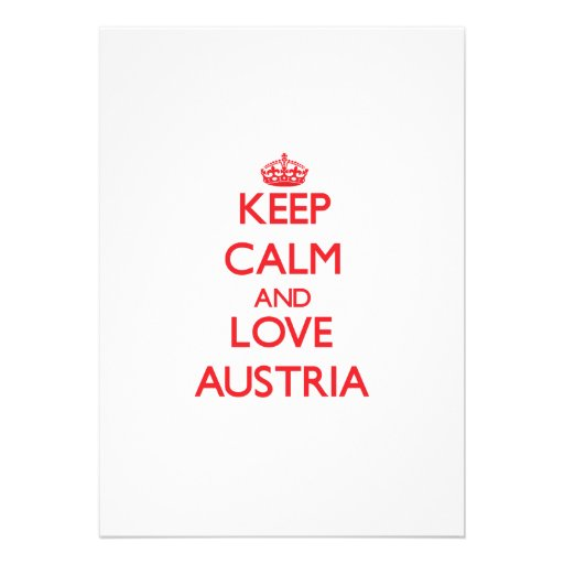 Keep Calm and Love Austria Personalized Announcement