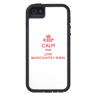 Keep calm and love Backcountry Skiing Cover For iPhone 5