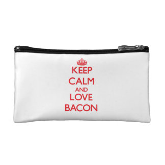 Keep calm and love Bacon Cosmetic Bags