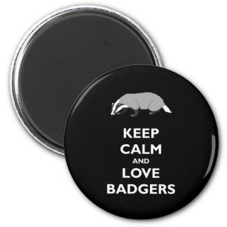 Keep Calm and Love Badgers 6 Cm Round Magnet