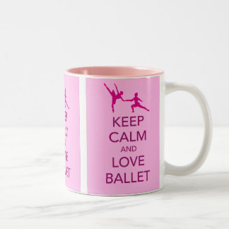 Keep Calm and Love Ballet Gift Print Mugs