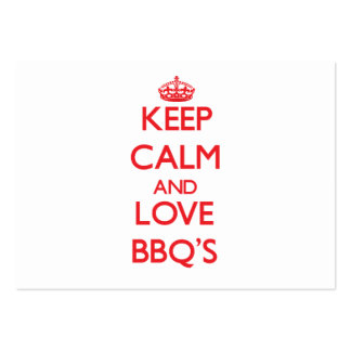 Keep calm and love Bbq S Business Card