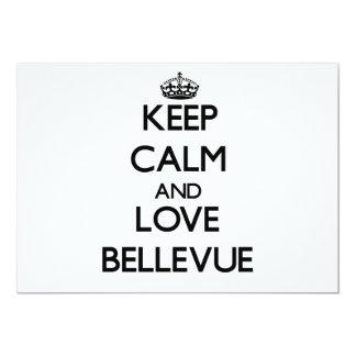 Keep Calm and love Bellevue Card