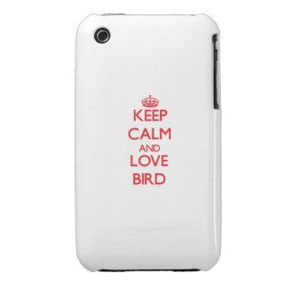 Keep calm and love Bird iPhone 3 Covers