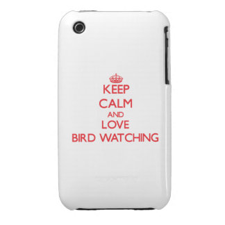 Keep calm and love Bird Watching Case-Mate iPhone 3 Cases