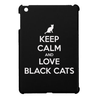 Keep Calm and Love Black Cats Cover For The iPad Mini
