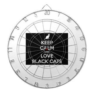 Keep Calm and Love Black Cats Dartboard