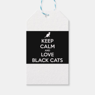 Keep Calm and Love Black Cats Gift Tags