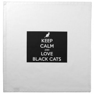 Keep Calm and Love Black Cats Napkin