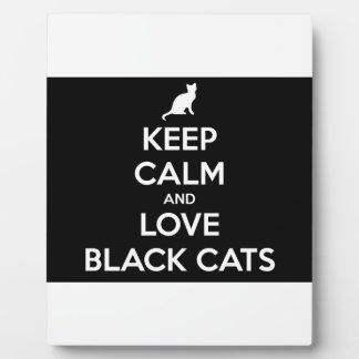 Keep Calm and Love Black Cats Plaque