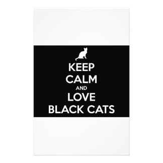 Keep Calm and Love Black Cats Stationery