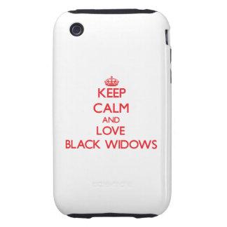 Keep calm and love Black Widows Tough iPhone 3 Cover