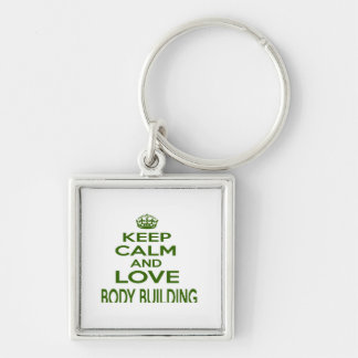 Keep Calm And Love Body Building Key Chains