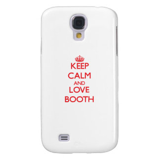 Keep calm and love Booth HTC Vivid Covers