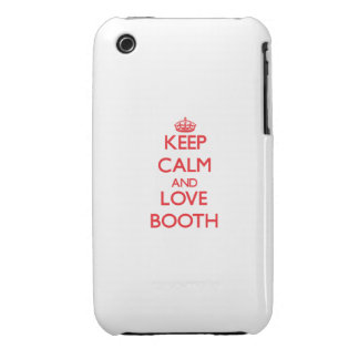 Keep calm and love Booth iPhone 3 Covers