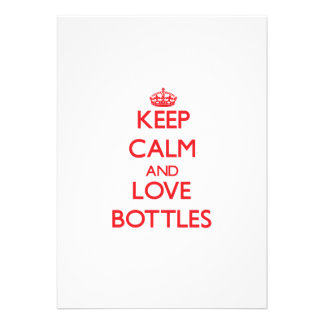 Keep calm and love Bottles Invite