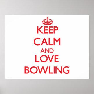 Keep calm and love Bowling Print