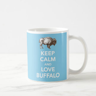 Keep Calm and Love Buffalo blue Mug