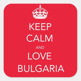 Keep Calm and Love Bulgaria Square Sticker