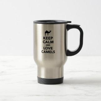 Keep calm and love camels coffee mug