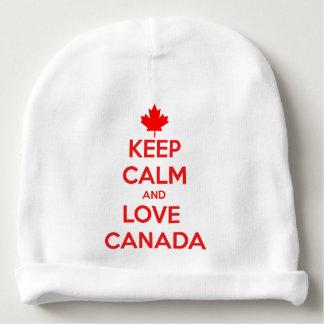 KEEP CALM AND LOVE CANADA BABY BEANIE