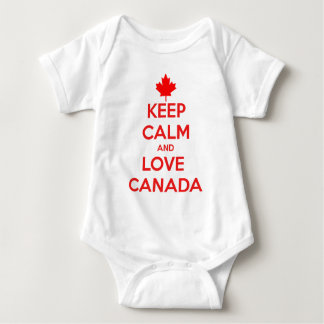KEEP CALM AND LOVE CANADA BABY BODYSUIT