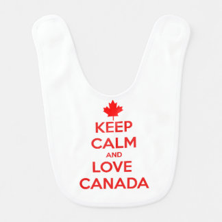 KEEP CALM AND LOVE CANADA BIB