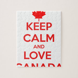 KEEP CALM AND LOVE CANADA JIGSAW PUZZLE