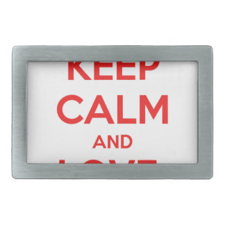 KEEP CALM AND LOVE CANADA RECTANGULAR BELT BUCKLE