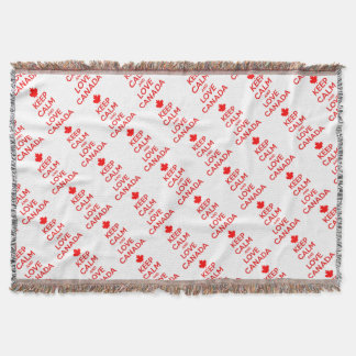 KEEP CALM AND LOVE CANADA THROW BLANKET