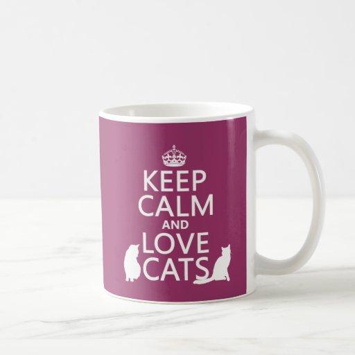 Keep Calm and Love Cats Mugs