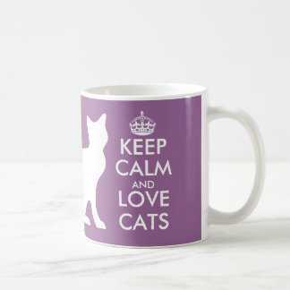 Keep calm and love cats mug