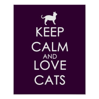 Keep Calm and Love Cats Print