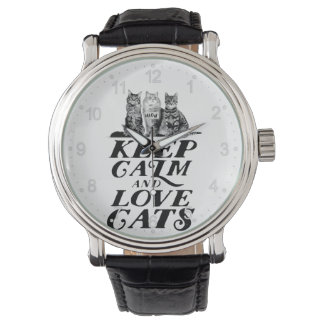 Keep calm and love cats watch