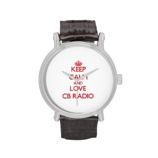 Keep calm and love Cb Radio Wristwatch
