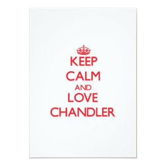 Keep Calm and Love Chandler 13 Cm X 18 Cm Invitation Card