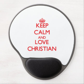 Keep Calm and Love Christian Gel Mouse Mat