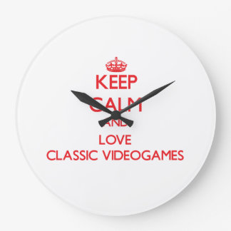 Keep calm and love Classic Videogames Wall Clock