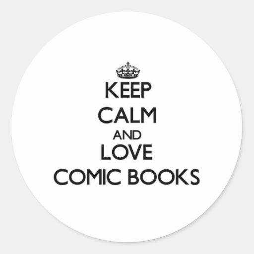 Keep calm and love Comic Books Sticker