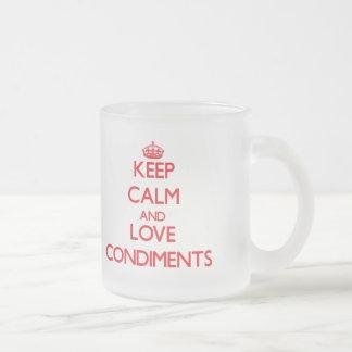 Keep calm and love Condiments Coffee Mugs