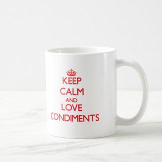 Keep calm and love Condiments Mug