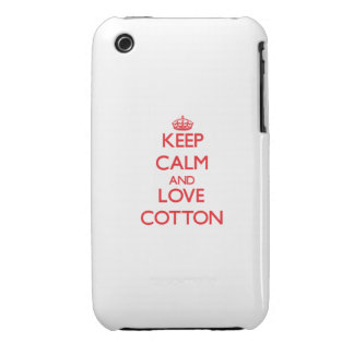 Keep calm and love Cotton Case-Mate iPhone 3 Case