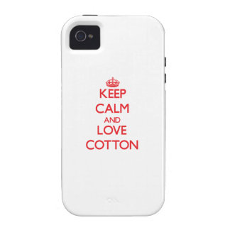 Keep calm and love Cotton Case-Mate iPhone 4 Case