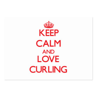 Keep calm and love Curling Business Card Templates